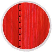 Rail Car 2 Round Beach Towel