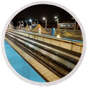 Rail Perspective Round Beach Towel