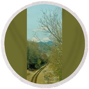 Railroad Adventure Round Beach Towel