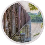 Railroad Bridge14 Round Beach Towel