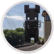 Railroad Lift Bridge 2 C Round Beach Towel