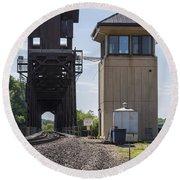 Railroad Lift Bridge2 A Round Beach Towel