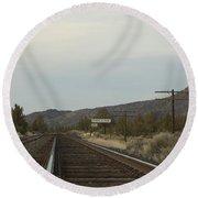 Railroad Tracks Round Beach Towel