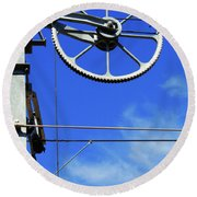 Railway Catenary Round Beach Towel