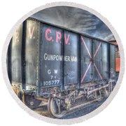 Railway Gunpowder Wagon Round Beach Towel