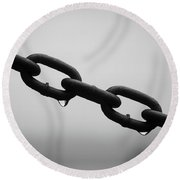 Rain And Chains Round Beach Towel
