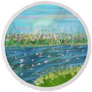 Rain And Shine Round Beach Towel