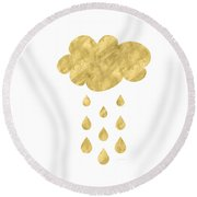 Rain Cloud- Art By Linda Woods Round Beach Towel