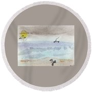 Rain Coming Round Beach Towel