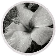 Rain-drenched Round Beach Towel