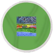 Rain Or Shine Round Beach Towel