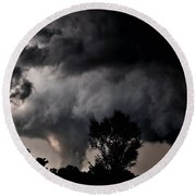 Rain Shaft 01 Round Beach Towel