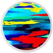 Rainbow 4 Round Beach Towel