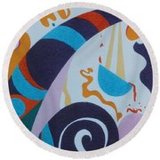 Rainbow And Pot Of Gold Round Beach Towel