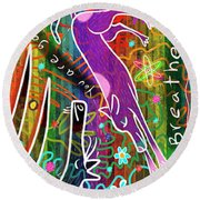 Rainbow Animals Yoga Mat Round Beach Towel