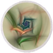 Rainbow Basic Flower Round Beach Towel