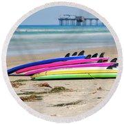 Rainbow Boards Round Beach Towel
