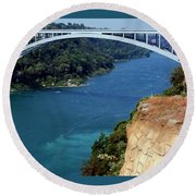 Rainbow Bridge Round Beach Towel