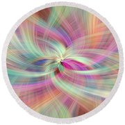 Rainbow Colored Abstract. Concept Divine Virtues Round Beach Towel