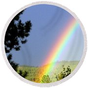 Rainbow Covenant Round Beach Towel