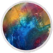 Rainbow Dreams II By Madart Round Beach Towel