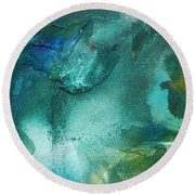 Rainbow Dreams Iv By Madart Round Beach Towel