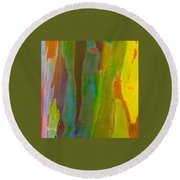 Rainbow Eucalyptus 8 Round Beach Towel