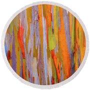Rainbow Eucalytpus Round Beach Towel