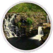 Rainbow Falls  2 Round Beach Towel