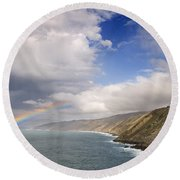 Rainbow From The Sea Round Beach Towel
