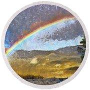 Rainbow - Id 16217-152046-6654 Round Beach Towel