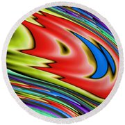 Rainbow In Abstract 04 Round Beach Towel