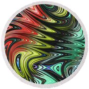 Rainbow In Abstract 05 Round Beach Towel
