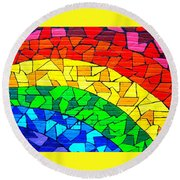 Rainbow ... Round Beach Towel