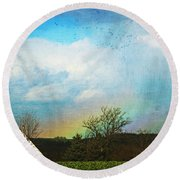 Rainbow Landscape Round Beach Towel