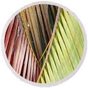 Rainbow Of Palms Gp Round Beach Towel
