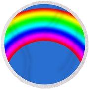 Rainbow On Sky Round Beach Towel