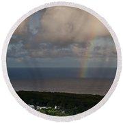 Rainbow Over Maui Round Beach Towel