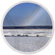 Rainbow Over The Arctic Round Beach Towel