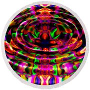 Rainbow River Round Beach Towel