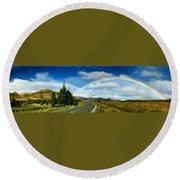 Rainbow Road - Id 16217-152055-0118 Round Beach Towel