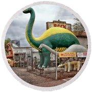 Rainbow Rock Shop Dino Round Beach Towel
