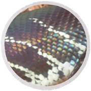 Rainbow Scales Round Beach Towel