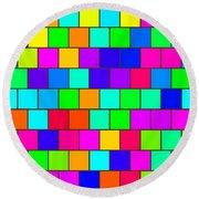 Rainbow Tiles Round Beach Towel