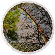Rainbow Tree Round Beach Towel