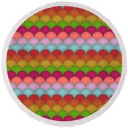 Rainbow Unicorn Scales Round Beach Towel