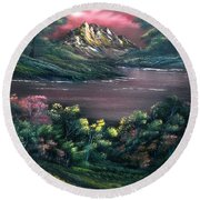 Rainbow Valley Round Beach Towel
