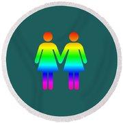 Rainbow Women Round Beach Towel