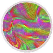 Rainbowlicious Round Beach Towel