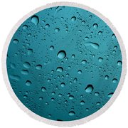Raindrops Round Beach Towel